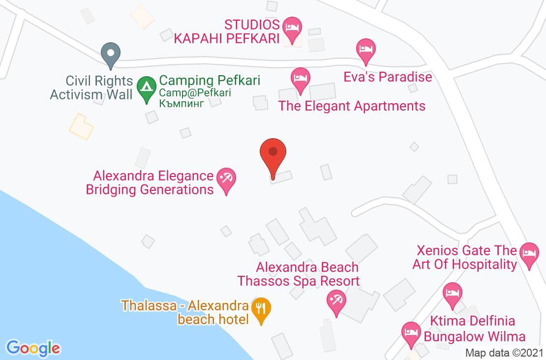 Разположение на Alexandra Elegance на картата