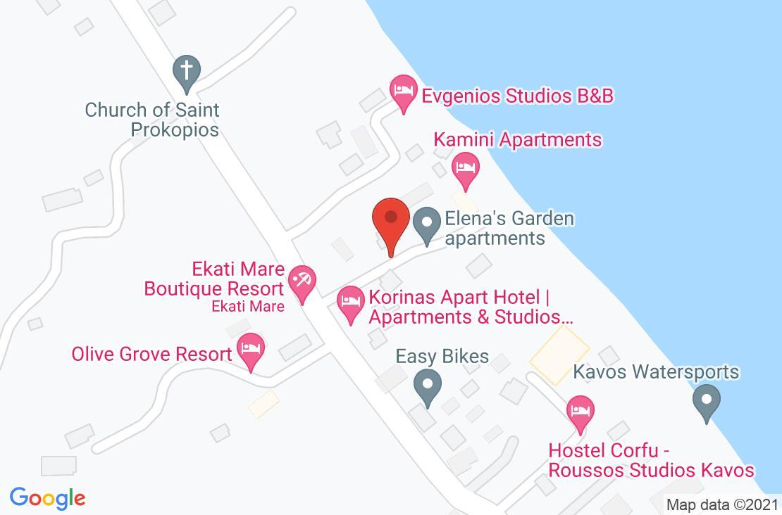 Разположение на Ekati Mare Hotel & Suites на картата
