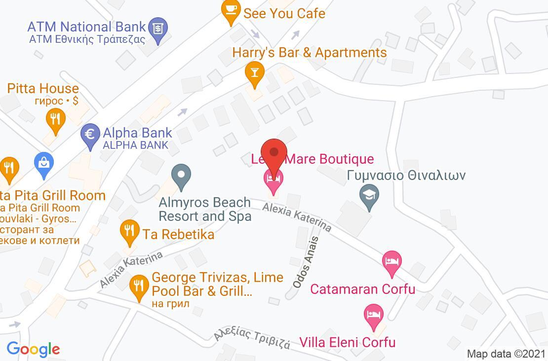 Разположение на Lena Mare Boutique Hotel на картата