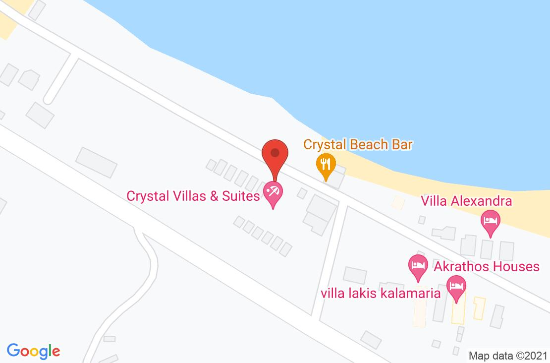Разположение на CrystaL Villas & Suites на картата