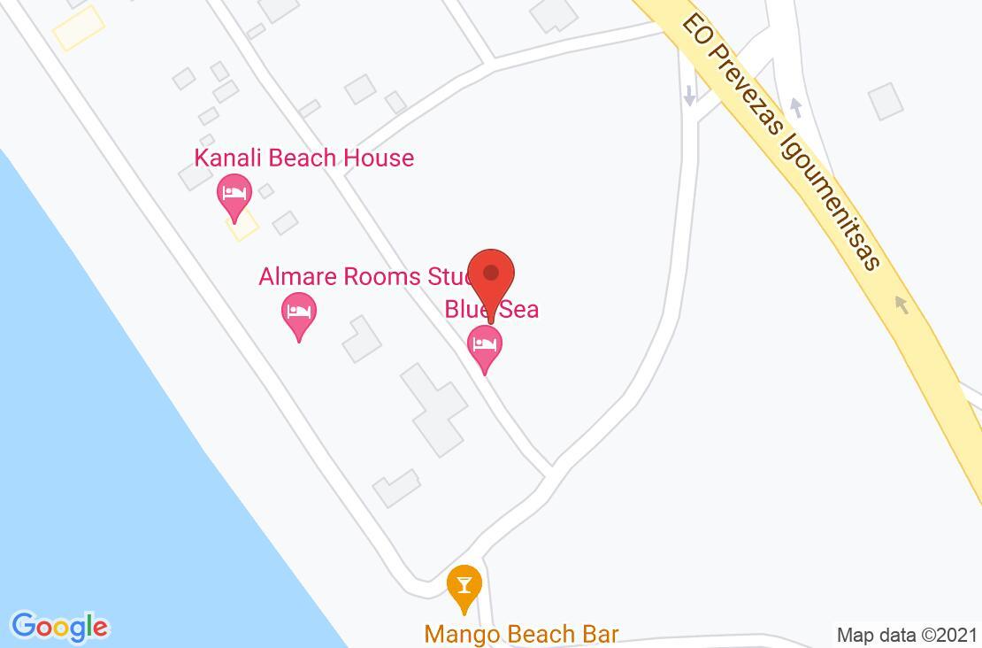 Разположение на Blue Sea Hotel - Kanali на картата