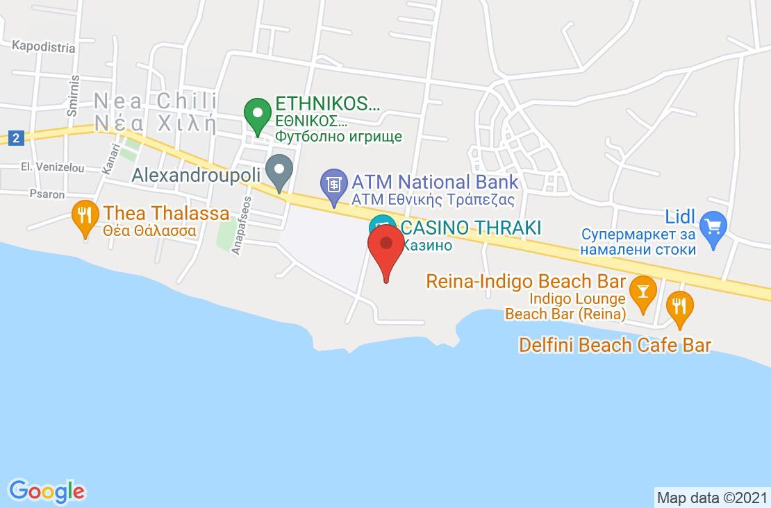 Разположение на Alexander Beach Hotel на картата