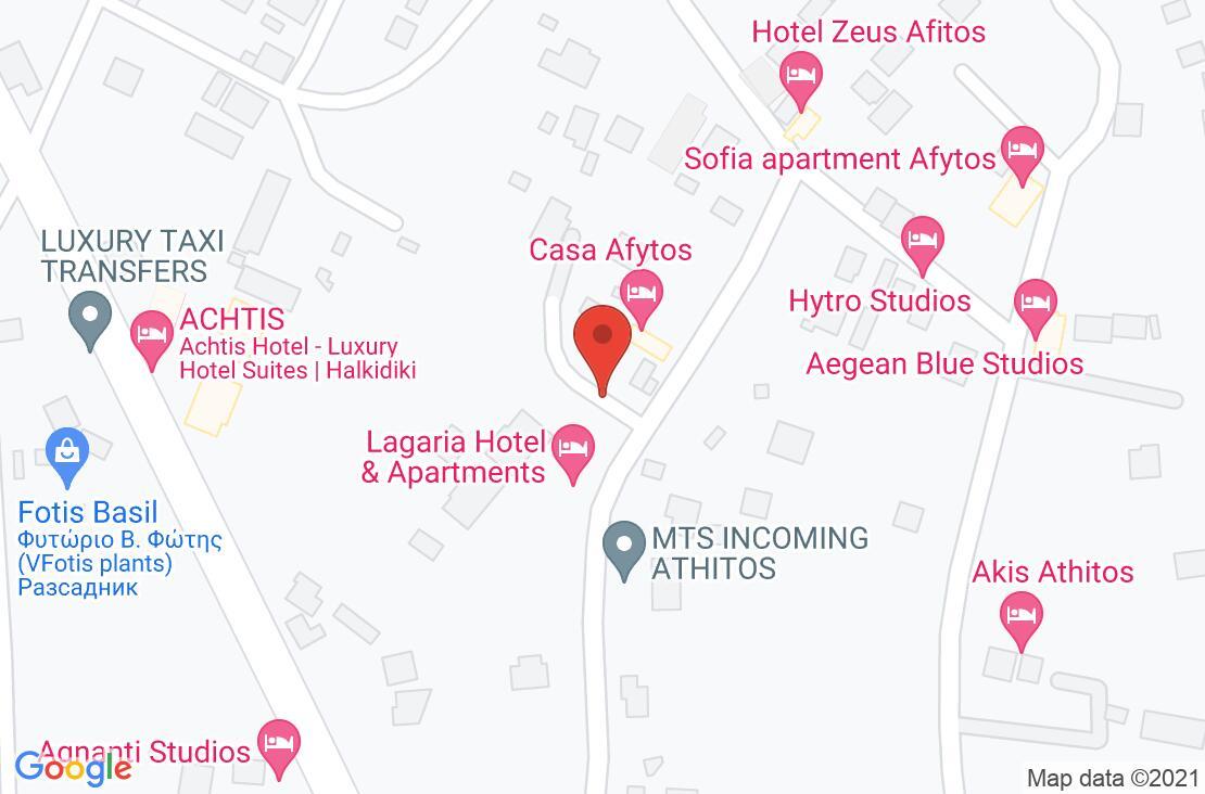 Разположение на Lagaria Hotel & Apartments - Afitos на картата