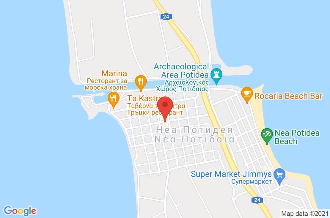 Разположение на Potidea Palace Hotel на картата