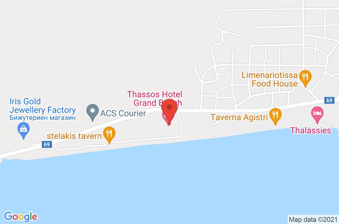 Разположение на Grand Beach Hotel на картата