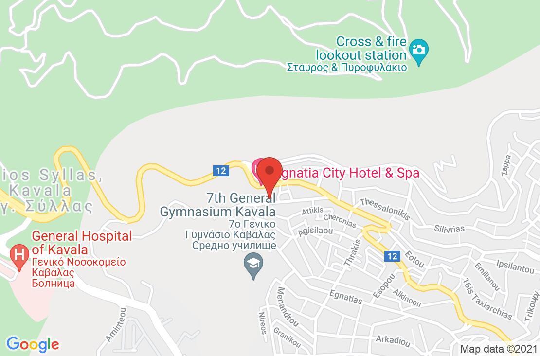 Разположение на Egnatia City Hotel & Spa на картата