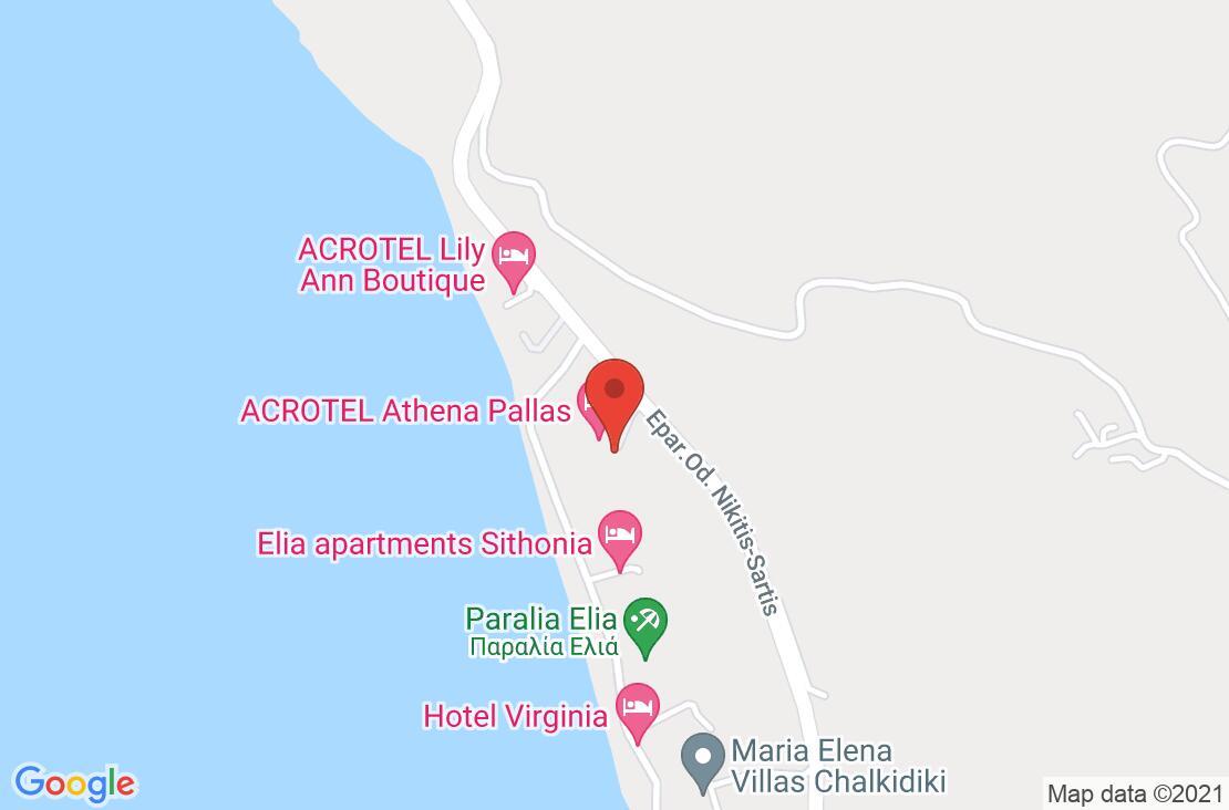 Разположение на Acrotel Athena Pallas на картата