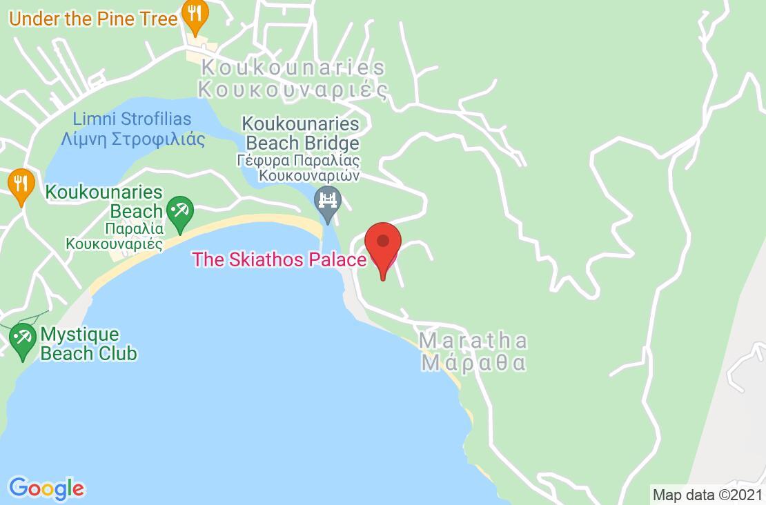 Разположение на Skiathos Palace Hotel на картата