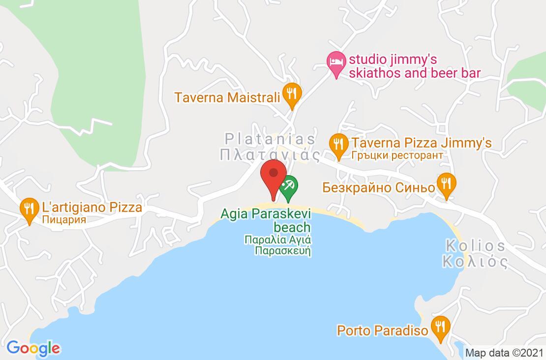Разположение на Princess Resort Skiathos на картата