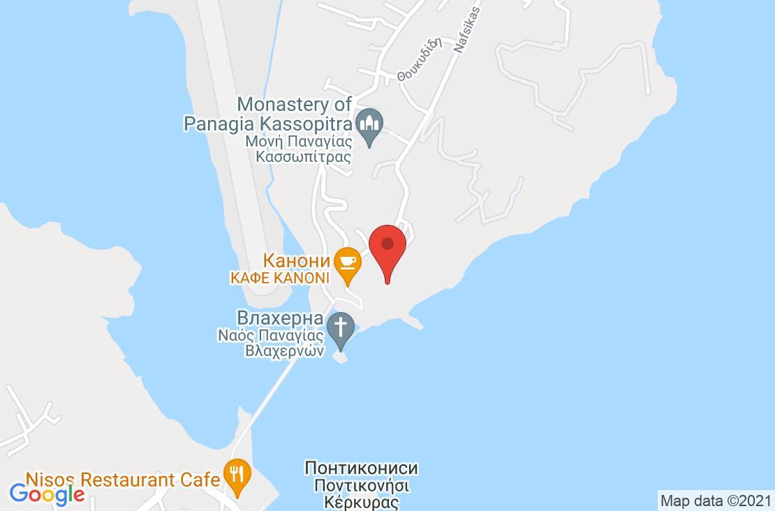 Разположение на Corfu Holiday Palace Hotel на картата