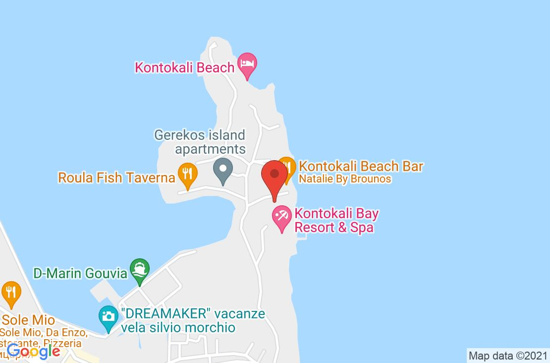 Разположение на Kontokali Bay Hotel на картата