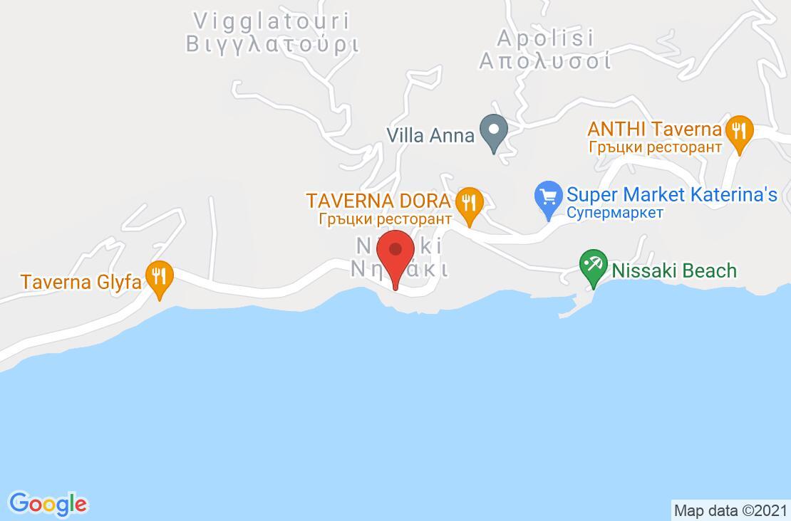 Разположение на Corfu Aquamarine Hotel (ex. Corfu Residence) на картата