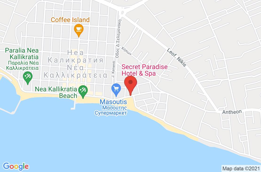 Разположение на Secret Paradise Hotel ( ex.Mykonos Paradise Hotel) на картата
