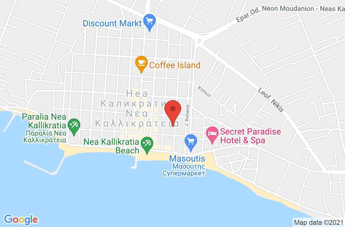 Разположение на Alkyonis Hotel на картата