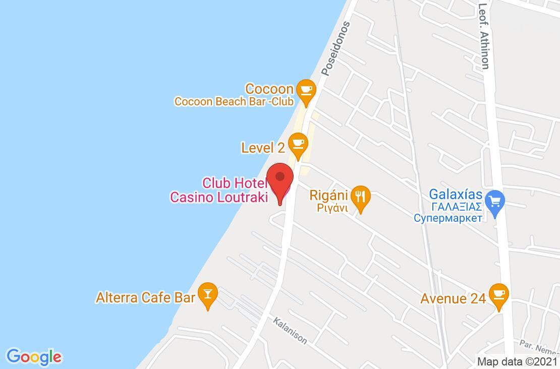 Разположение на Club Hotel Casino Loutraki на картата