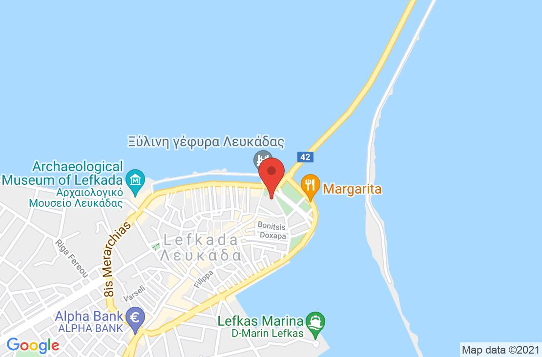 Разположение на Lefkas Hotel на картата