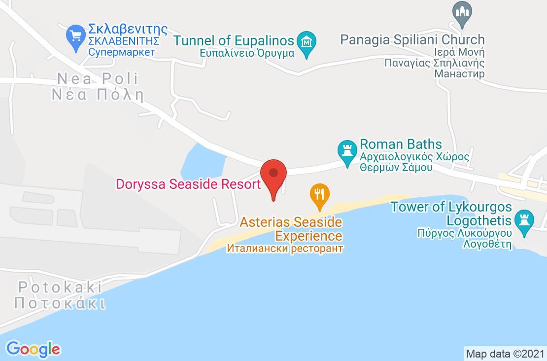 Разположение на Doryssa Sea Side Resort на картата