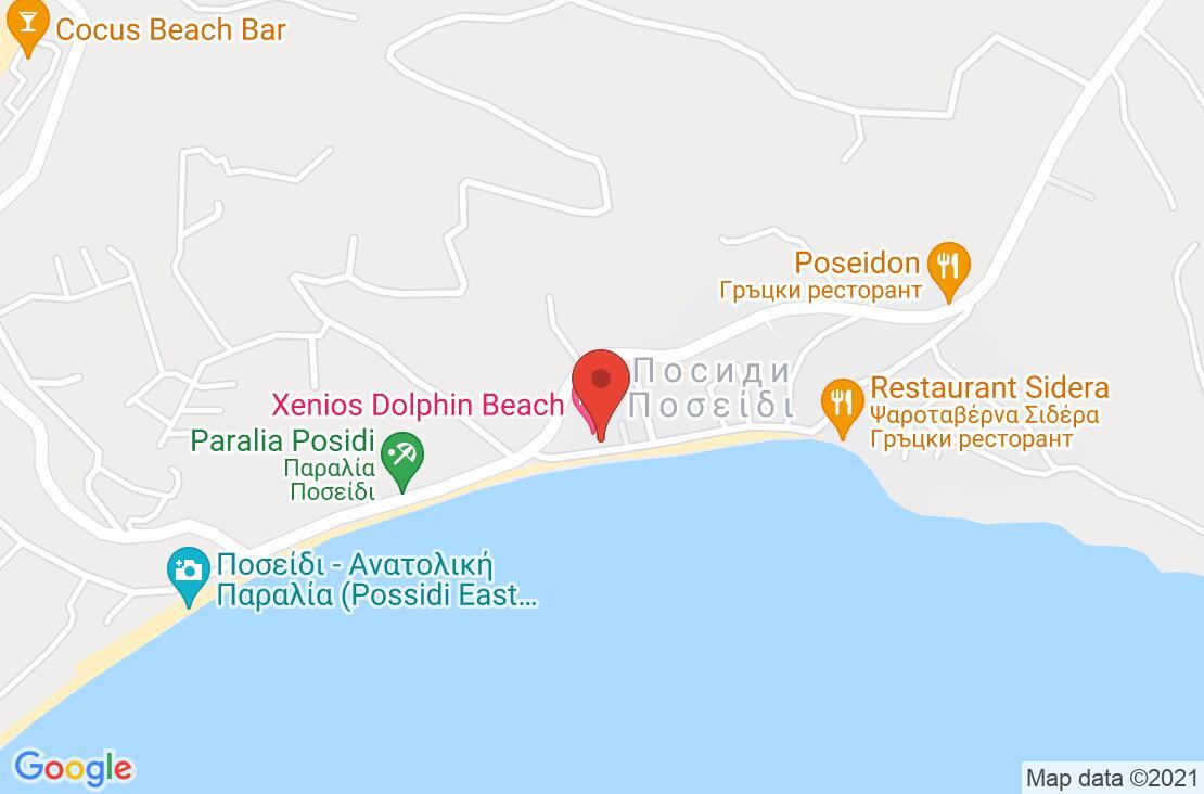 Разположение на Dolphin Beach Hotel на картата