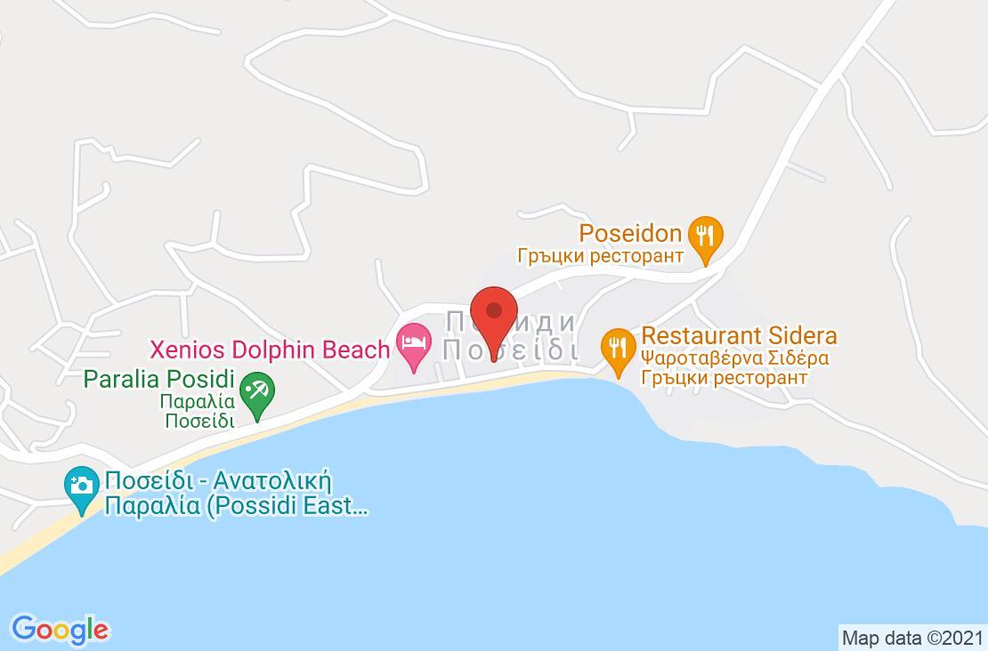 Разположение на Possidi Paradise Hotel на картата