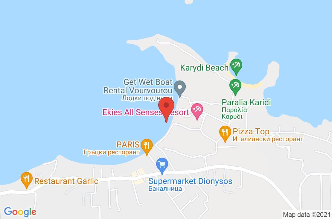 Разположение на Ekies All Senses Resort на картата