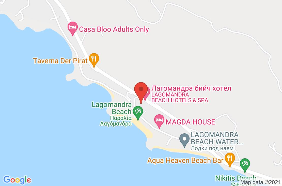 Разположение на Lagomandra Hotel & Spa на картата