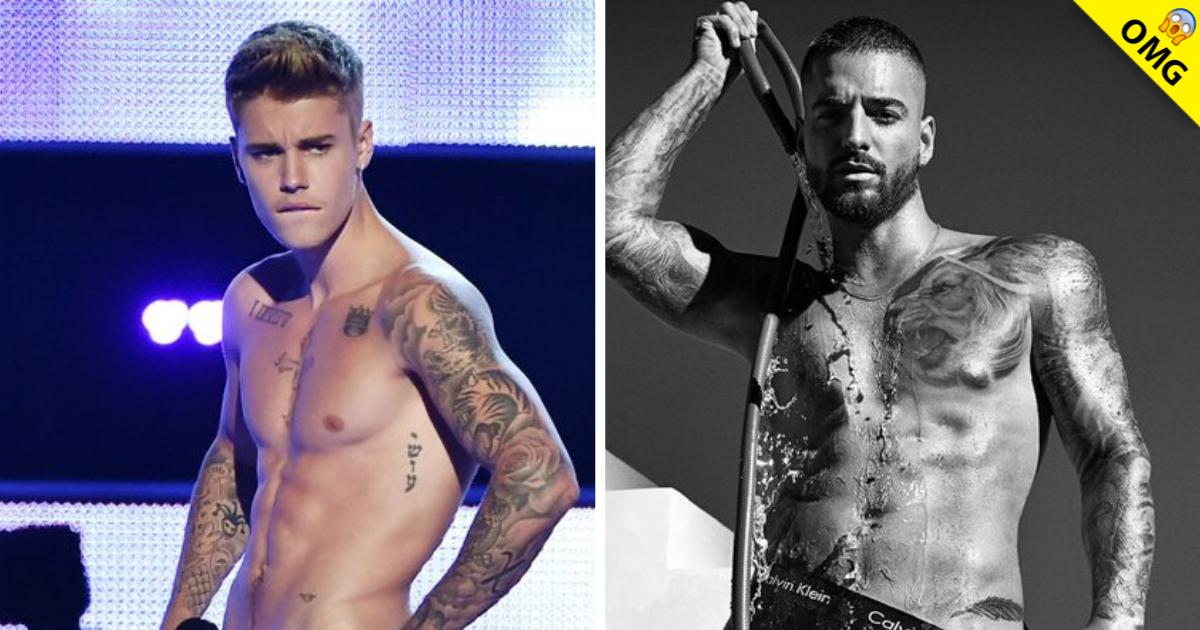 Maluma Posa En Ropa Interior Junto A Justin Bieber Exa Fm