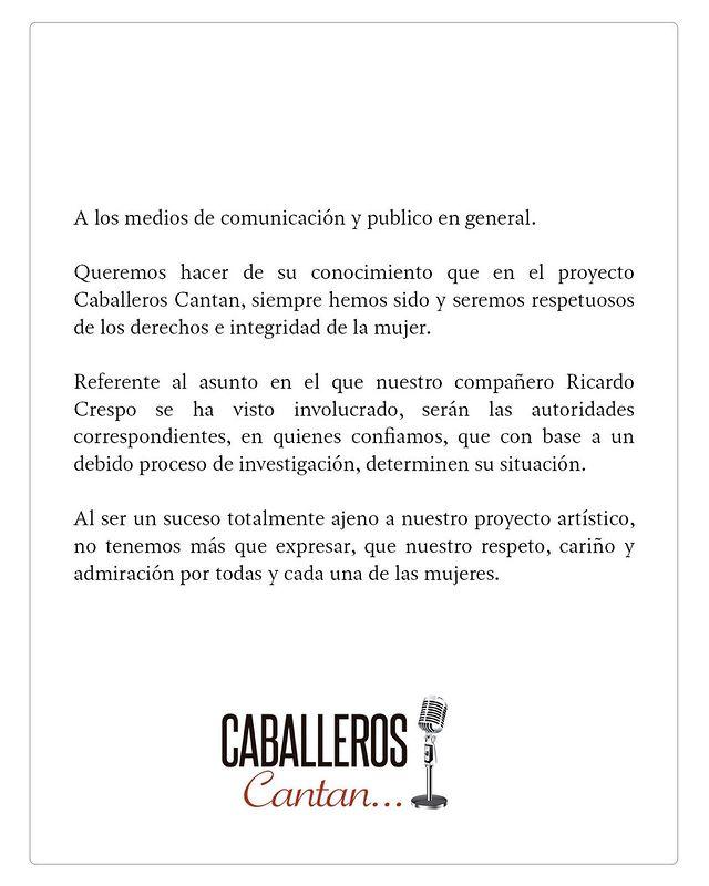 CABALLEROS CANTAN