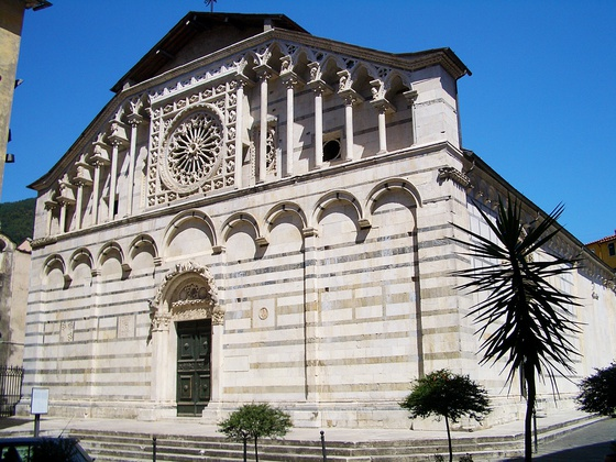 The medieval cathedral of Carrara