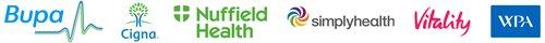 Health insurers logos