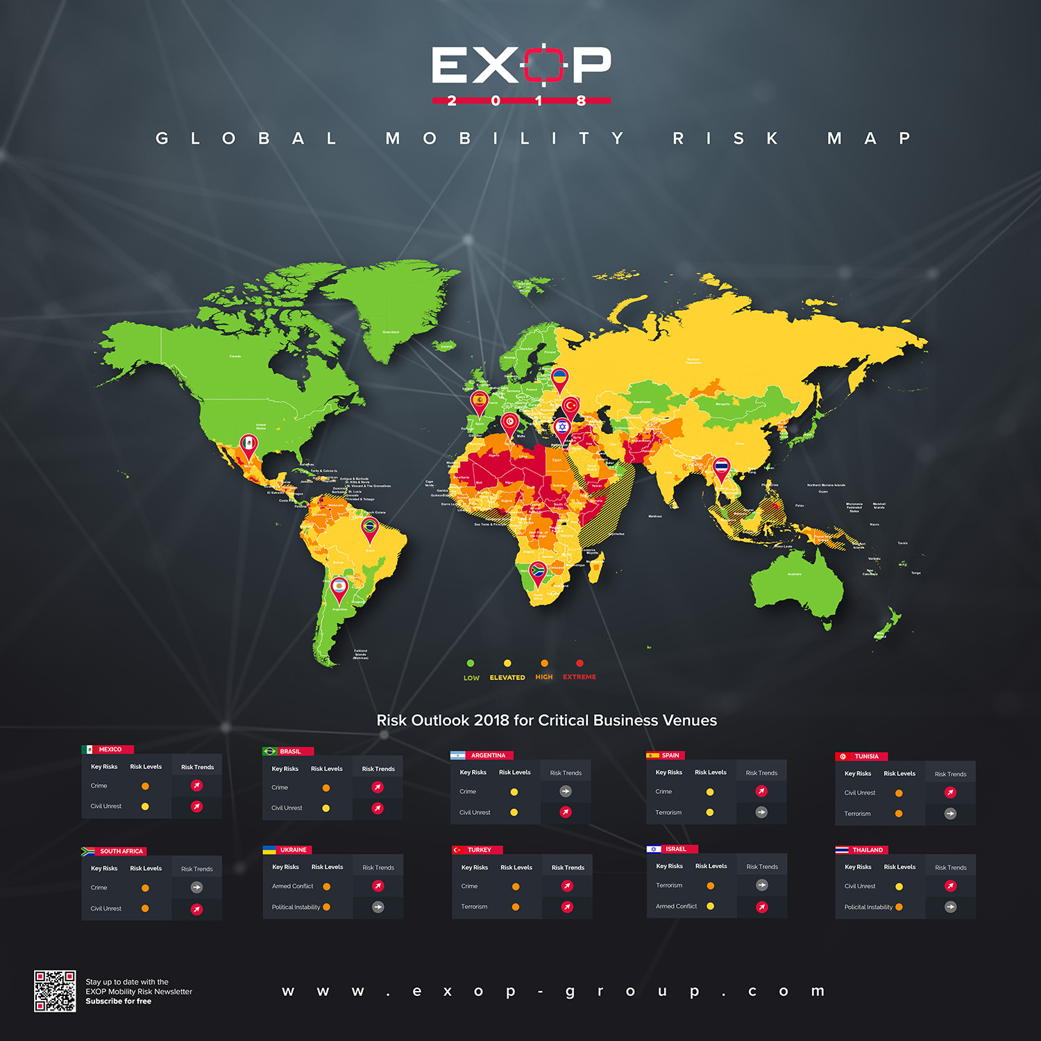 Global Mobility Risk Map 2018 - EXOP Group