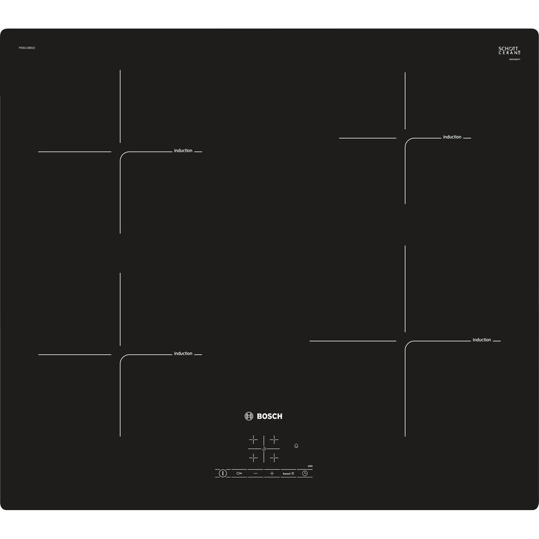 Korting Bosch PIE611BB1E inductie inbouwkookplaat