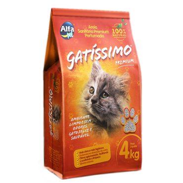 Areia Higiênica Gatíssimo Para Gatos Perfumada 4kg