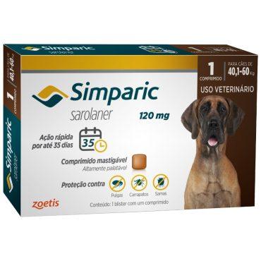Antipulgas Simparic 120 Mg Para Cães 40 1 A 60 Kg - Zoetis