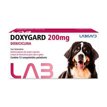 Antimicrobiano Doxygard Labgard 200mg P/ Cães E Gatos C/12 Comprimido