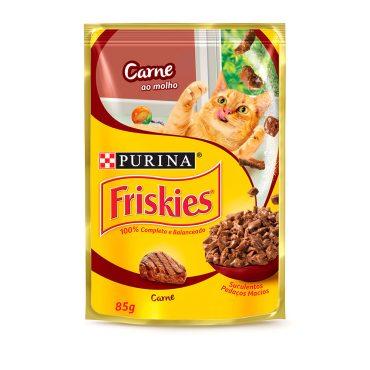 Ração Úmida Friskies Sache Carne Ao Molho 85g