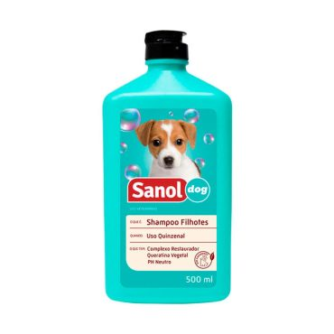 Shampoo Sanol Dog Para Cães Filhotes