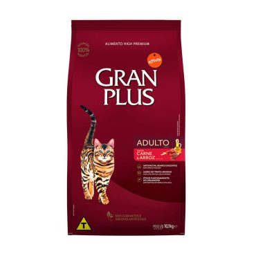 Ração Granplus Gato Adulto Carne 10 1kg