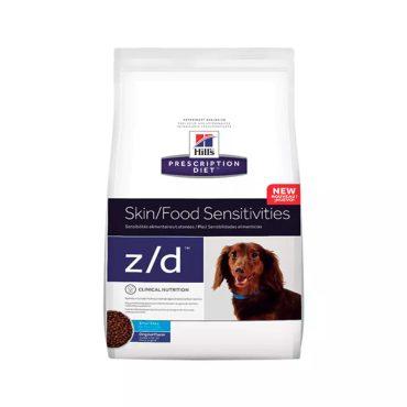 Ração Prescription Diet Z/d Alergias Alimentares E Da Pele Hills Para Cães Adultos Pedaços Pequenos 3 17kg