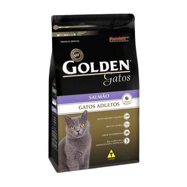 Ração Golden Gatos Adultos Sabor Salmão 10 1kg