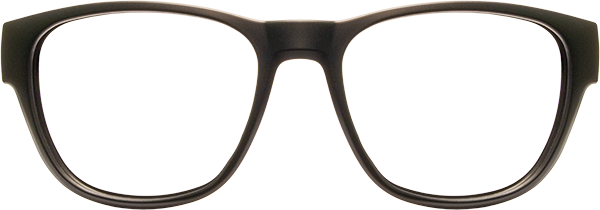 Prescription Safety Glasses - HiDX A002 (Matte Black) - front view