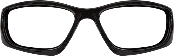 Prescription Safety Glasses: Edge Eyewear Baretti (Gloss Black)
