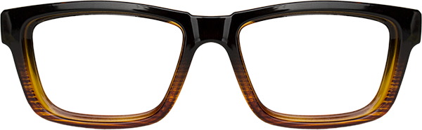 Prescription Safety Glasses: WileyX Worksight™ Series Contour (Gloss Black/ Brown Stripe)