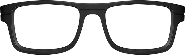 Prescription Safety Glasses - WileyX Worksight™ Series Epic (Matte Black) - front view