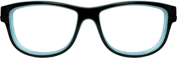 Prescription Safety Glasses: WileyX Worksight™ Series Marker (Gloss Black/Sky Blue)