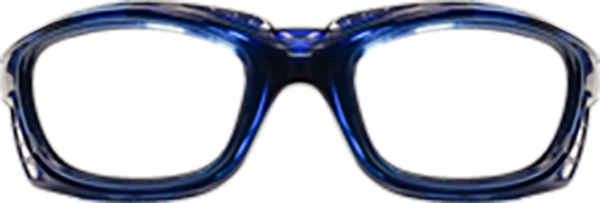 Prescription Safety Glasses - UVEX SWRX Collection SW09R (8Base) (Blue) - front view