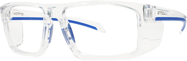 Prescription Safety Glasses - ArmouRx Basic Collection 5003 (Crystal) - side view