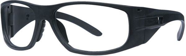 Prescription Safety Glasses - ArmouRx Wrap-RX Collection 6001 (Black) - side view