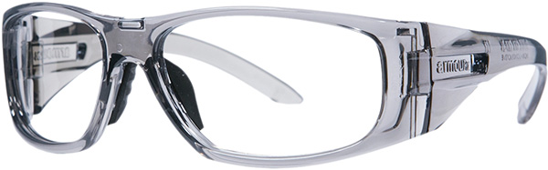 Prescription Safety Glasses - ArmouRx Wrap-RX Collection 6001 (Grey) - side view
