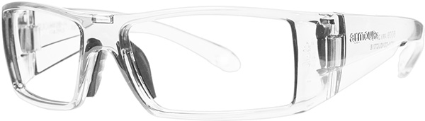 Prescription Safety Glasses - ArmouRx Wrap-RX Collection 6009 (Crystal) - side view