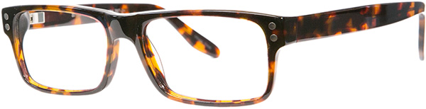 Prescription Safety Glasses - ArmouRx Metro Collection 7001 (Demi Amber) - side view